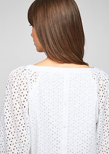 s.Oliver Damen Bluse aus Baumwollspitze White 38 - 3