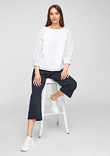 s.Oliver Damen Bluse aus Baumwollspitze White 38 - 4