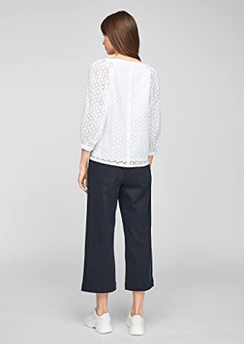 s.Oliver Damen Bluse aus Baumwollspitze White 38 - 6