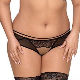 Axami Damen Slip Unterhose Durchsichtig V-8543, Schwarz,M - 1