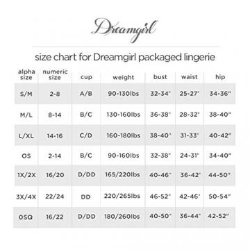 Dreamgirl Damen Fishnet Bralette & High-Waister Garter Skirt Dessous-Set, Schwarz, Einheitsgröße - 6