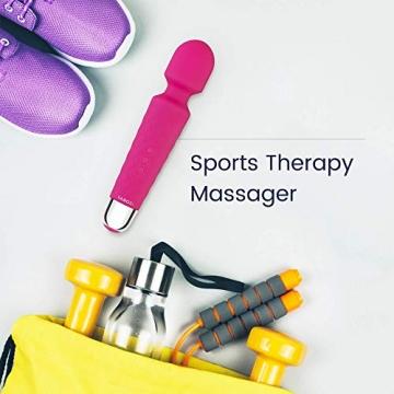 Kabelloser Massagestab von Yarosi - Stärkste Therapeutische Vibrationskraft - Magischer Stressbefreier - Perfekt für Muskelschmerzen und Erholung nach Ihrem Sportprogramm - Rosa - 4