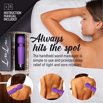 LuLu 11 Massage Wand Massagestab kabelloser elektrisch Memory Edition - Leise und Stark - 20 Verschiedene Vibrationsarten 5 Geschwindigkeiten - inkl. Reisetasche… - 4