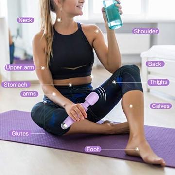 Massage Wand Massagestab kabelloser elektrisch - 20 Verschiedene Vibrationsarten 9 Geschwindigkeiten USB Wiederaufladbar - 6