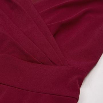 50s Kleider Rockabilly Vintage Retro Kleid cocktailkleider Burgundy a Linie Kleider CL698-2 L - 6