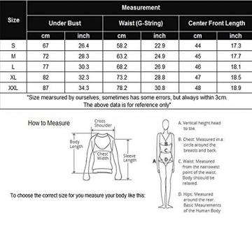 Alluroman Sexy Kleid Damen Nachtwäsche für Sex Frauen Negligee Dessous Nachthemd Spitze Reizwäsche Set Schwarz XX-Large - 7