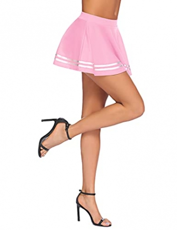 Avidlove Dessous Frauen Rollenspiel Kostüm Mini Fester Rock Schulmädchen Outfits Rosa XXL - 5