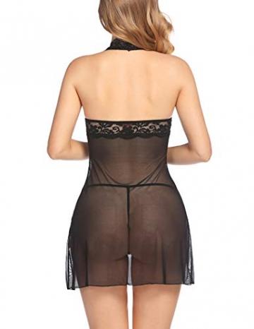Avidlove Negligee Damen Nachtwäsche Nachtkleid Nachthemd Spitze Lingerie Dessous Reizwäsche Set Sleepwear Kleid - 6
