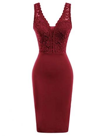 GRACE KARIN Rockabilly Kleider sexy cocktailkleider elegant Retro Kleider CL136-4 S - 1