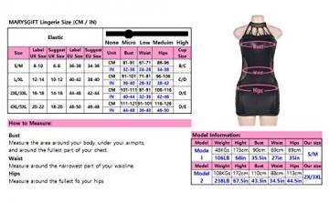 marysgift Damen Dessous Wetlook Babydoll Mini-Kleid große größen Party Dress Kunstleder Schwarz 5XL 48 50 - 6