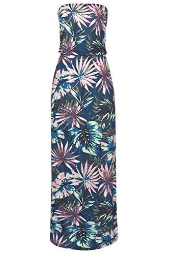 SEBOWEL Damen Maxikleid Sommer Boho Kleider Lang Bandeau Ärmelloses Sommerkleid Strandkleider Elegante Freizeitkleid CocktailKleider Abendkleid (S, Grün) - 3