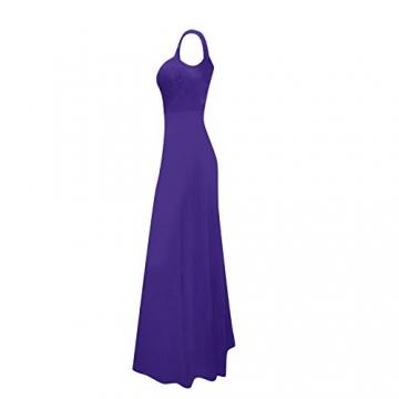 Shineshae Damen sexy Split Abendkleid,Einschulteriger Spitzenrock,Elegantes Kleid mit hoher Taille,Wischrock Party Kleid Ballkleid - 3