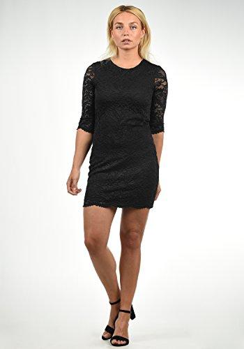 VERO MODA Ewelina Damen Etuikleid Mit Spitze Abendkleid Mit Rundhals-Ausschnitt Elastisch, Größe:XL, Farbe:Black - 2