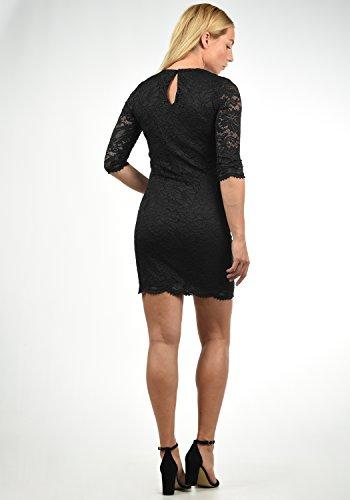 VERO MODA Ewelina Damen Etuikleid Mit Spitze Abendkleid Mit Rundhals-Ausschnitt Elastisch, Größe:XL, Farbe:Black - 3