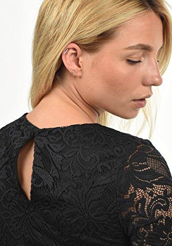 VERO MODA Ewelina Damen Etuikleid Mit Spitze Abendkleid Mit Rundhals-Ausschnitt Elastisch, Größe:XL, Farbe:Black - 5