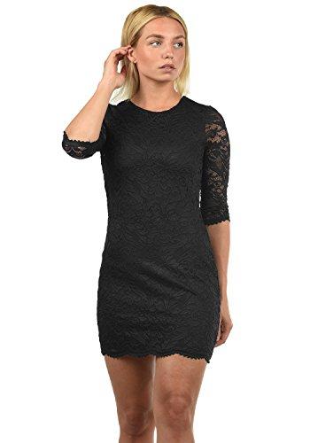 VERO MODA Ewelina Damen Etuikleid Mit Spitze Abendkleid Mit Rundhals-Ausschnitt Elastisch, Größe:XL, Farbe:Black - 1