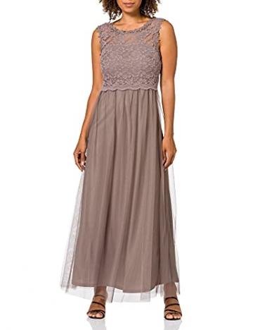 Vila Clothes Damen VILYNNEA Maxi Dress-NOOS Kleid, Fungi, 40 - 1